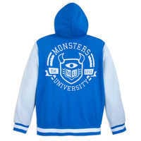 Image of Monsters University Hooded Varsity Jacket for Adults # 4