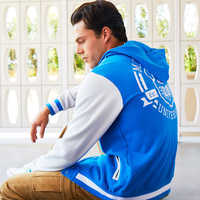 Image of Monsters University Hooded Varsity Jacket for Adults # 3