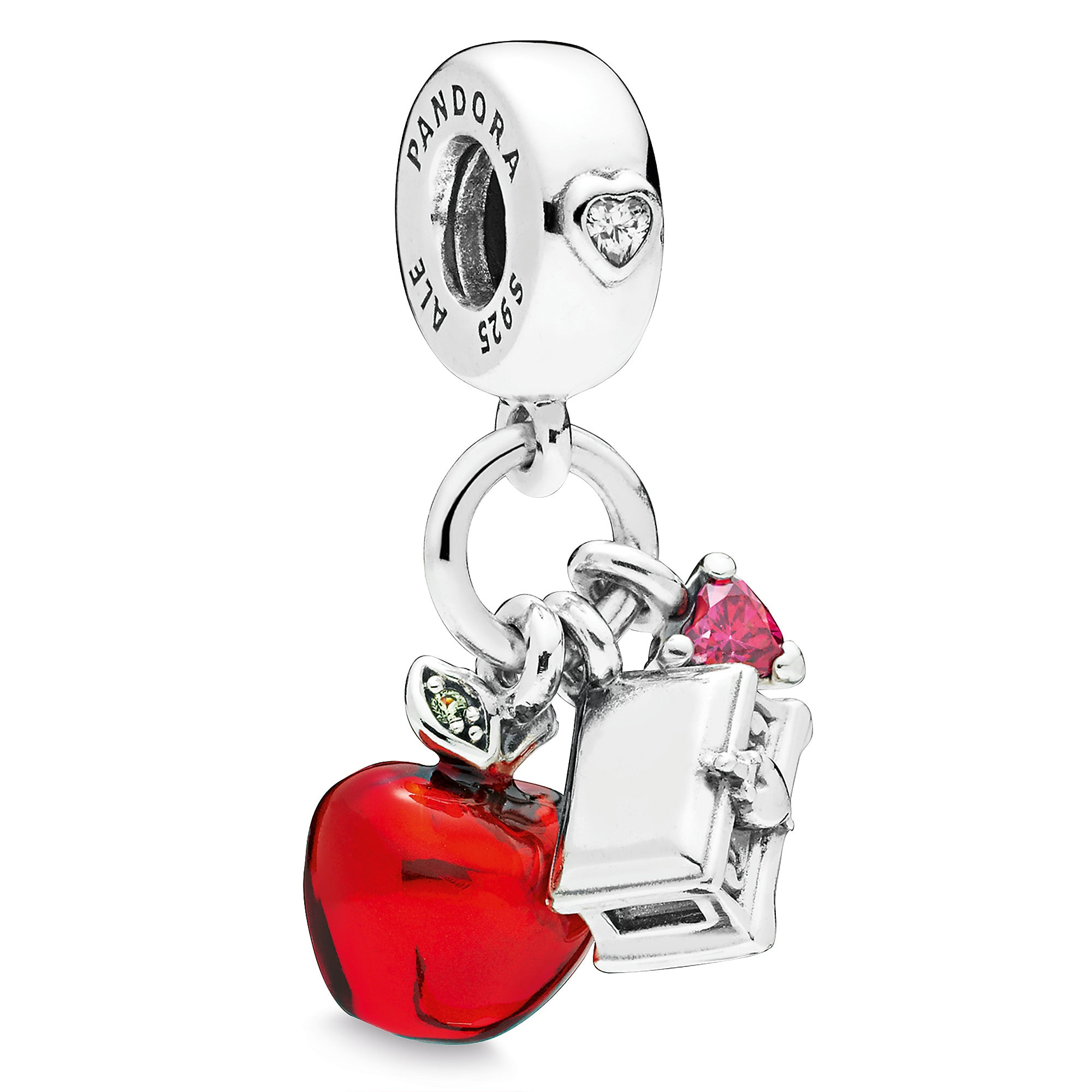 Snow White Apple and Heart Box Charm by PANDORA