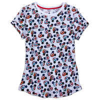 Image of Mickey Mouse Epcot Flags Shirt for Women # 1