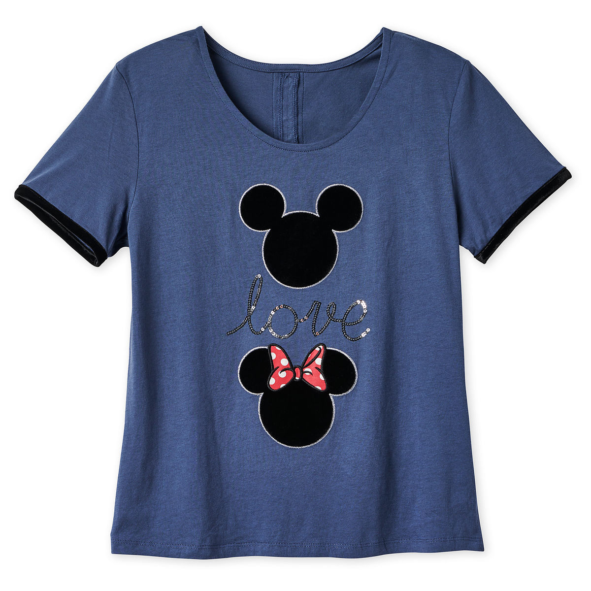 Product Image of Mickey and Minnie Mouse Icon Fashion T-Shirt for Women # 1