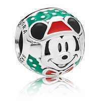 Image of Santa Mickey Mouse Bead Charm by Pandora Jewelry # 1