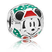 Image of Santa Mickey Mouse Bead Charm by Pandora Jewelry # 2