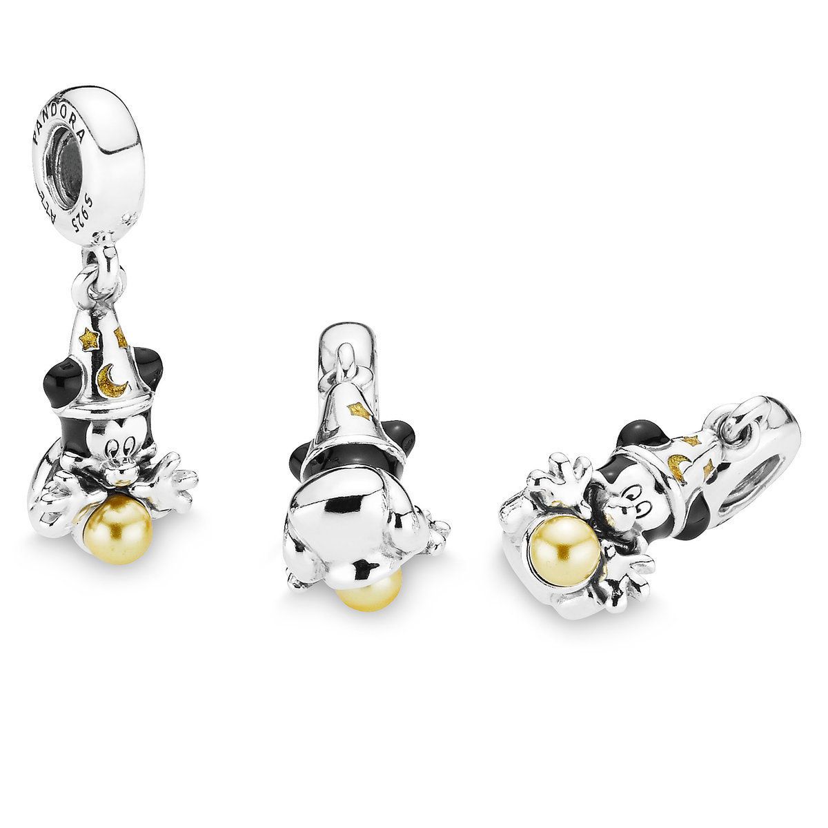 20199f9d969 Product Image of Sorcerer Mickey Mouse Charm by Pandora Jewelry - Fantasia    3