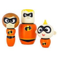 Image of Incredibles Wooden Figure Set # 1