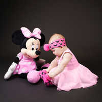 Image of Minnie Mouse Socks and Headband Gift Set for Baby by Waddle - Pink # 3