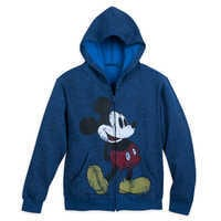 Image of Mickey Mouse Timeless Zip Hoodie for Kids - Navy # 1