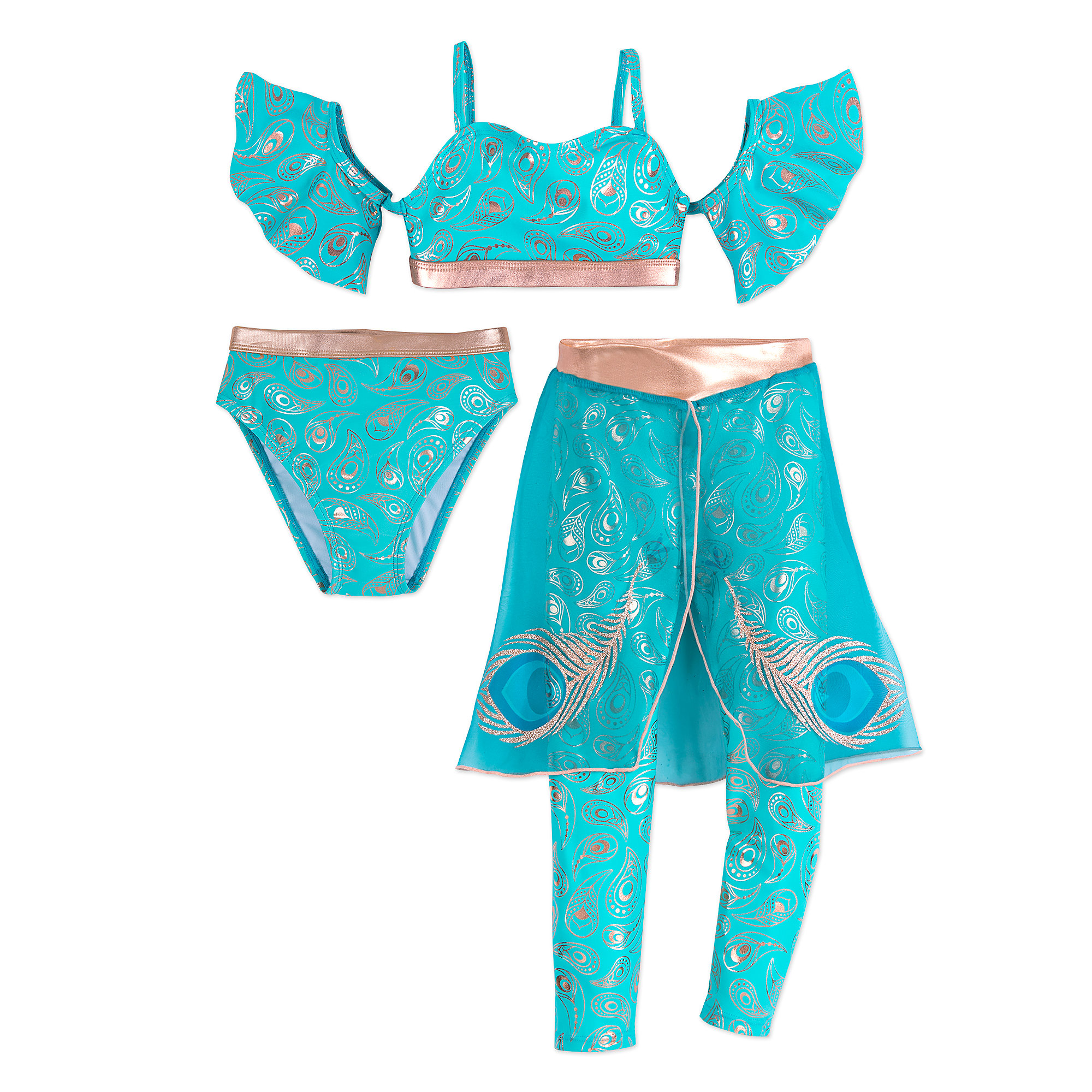 16d0ebfeeaa67 Jasmine Deluxe Swimsuit Set for Girls | shopDisney