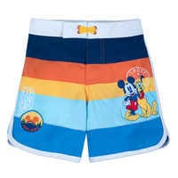 Image of Mickey Mouse and Pluto Swim Trunks for Boys # 1