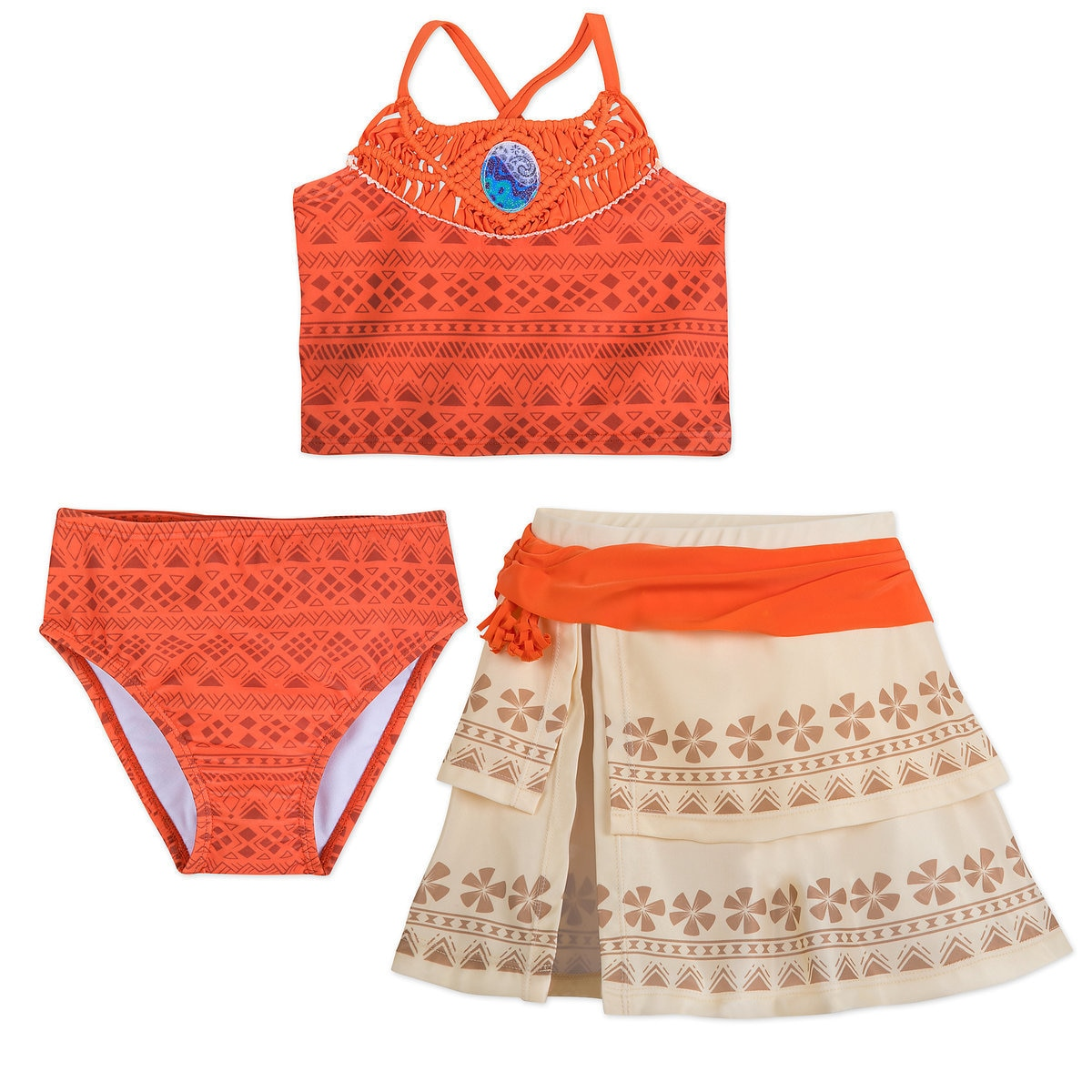 2b994b19074bf Product Image of Moana Deluxe Swimsuit Set for Girls # 1