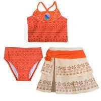 Image of Moana Deluxe Swimsuit Set for Girls # 1