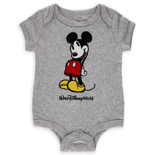 Mickey Mouse Bodysuit for Baby - Walt Disney World - Gray
