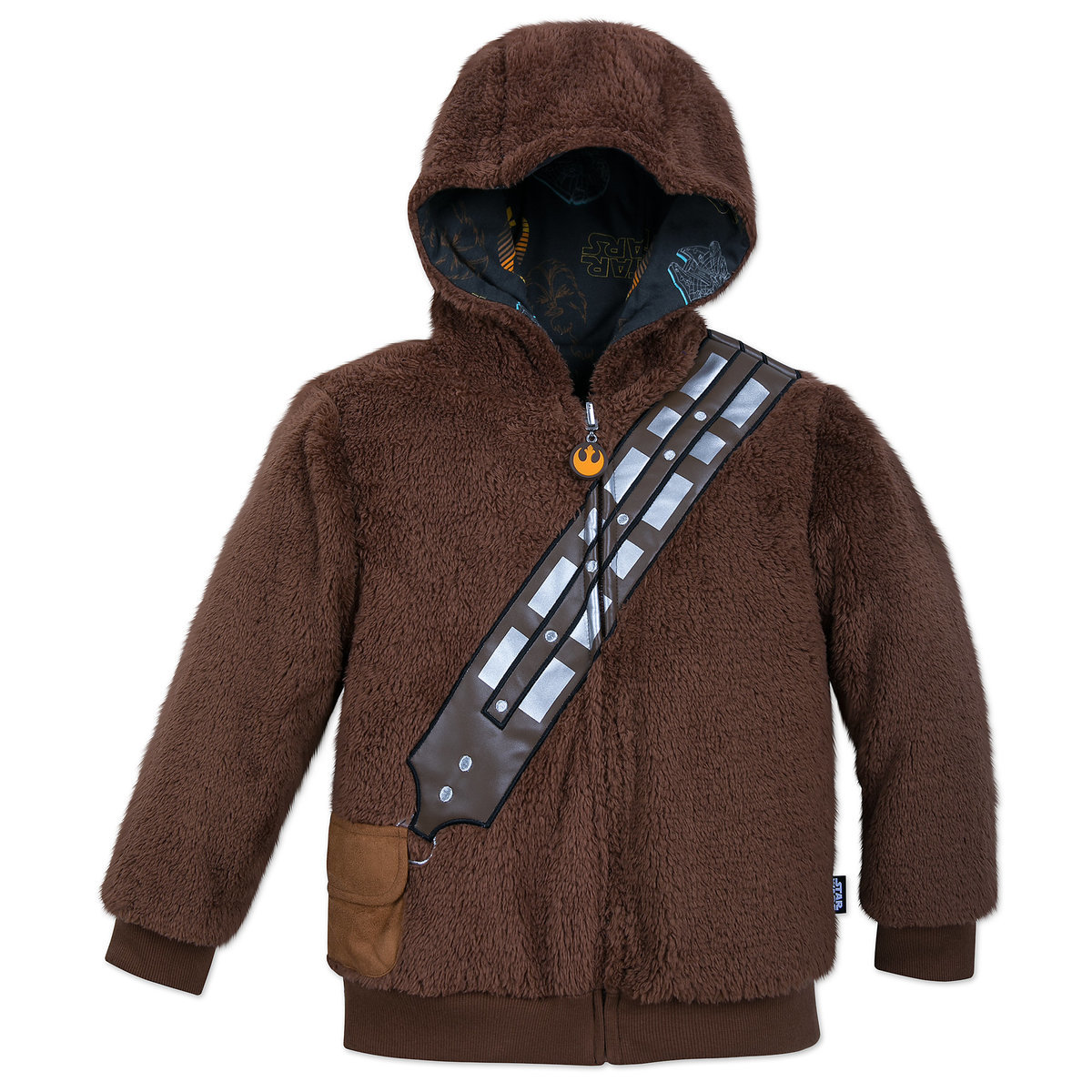 bf5deb3adbff Chewbacca Reversible Fleece Hoodie for Kids