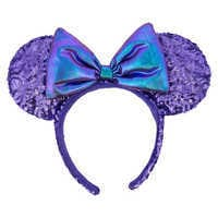 Image of Minnie Mouse Potion Purple Ear Headband # 1