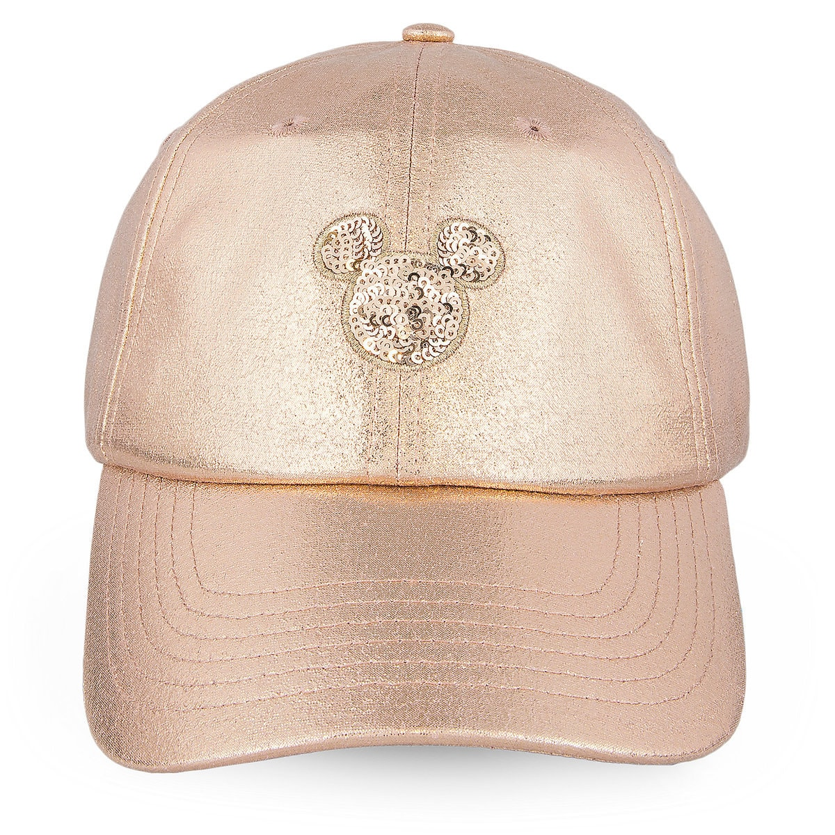 07f09866b7dd6 Product Image of Mickey Mouse Rose Gold Baseball Cap for Women   1