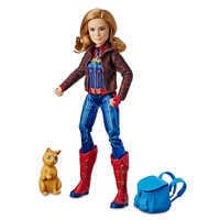 Image of Marvel's Captain Marvel and Marvel's Goose Figure Set by Hasbro # 1