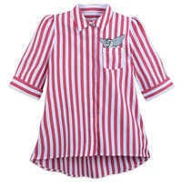 Image of Dumbo Striped Button-Up Shirt for Women - Live Action Film # 1