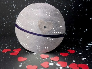 That's No Moon, It's a DIY Death Star Valentine