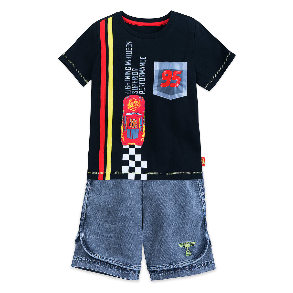 a2af215c255fb Product Image of Lightning McQueen Shirt and Shorts Set for Boys # 1