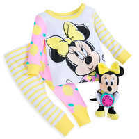 Image of Minnie Mouse PJ PALS and Plush Rattle Set for Baby # 1