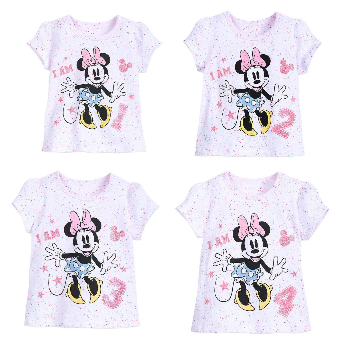 d007875b5 Minnie Mouse   I Am . . .   Birthday Tee for Girls