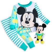 Image of Mickey Mouse PJ PALS and Plush Rattle Set for Baby # 1