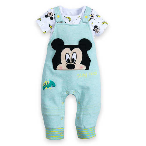 Disney Mickey Mouse Bodysuit and Dungaree Set for Baby