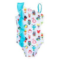 Image of Mickey and Minnie Mouse Summer Fun Swimsuit for Girls # 1