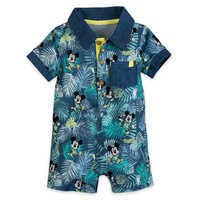 Image of Mickey Mouse Tropical Romper for Baby # 1