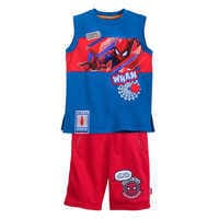 Image of Spider-Man Tank Top and Shorts Set for Boys # 1