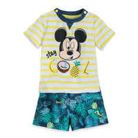 Image of Mickey Mouse ''Stay Cool'' Shirt and Shorts Set for Baby # 1