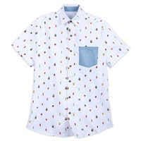 Image of Mickey Mouse Summer Fun Woven Shirt for Men # 1