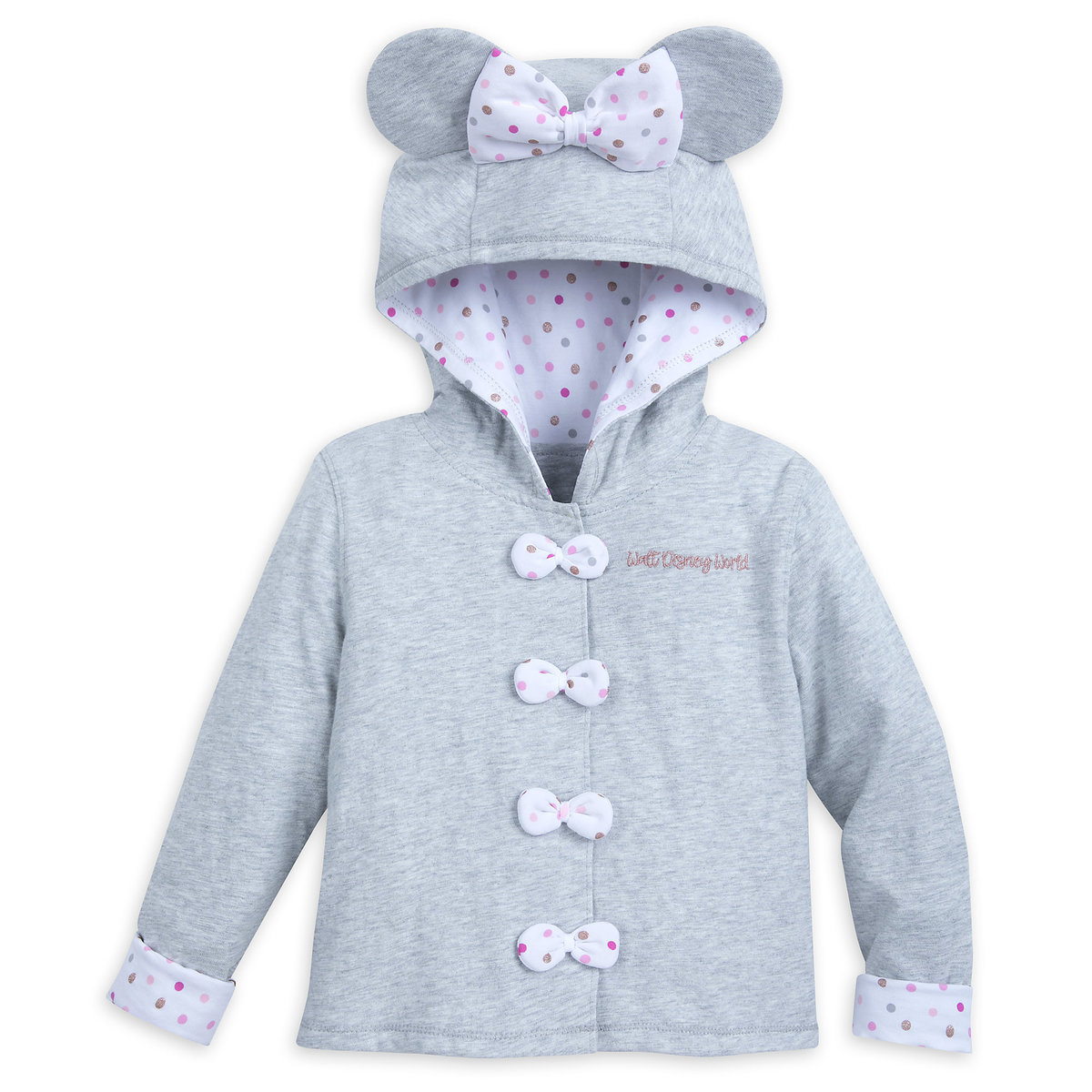 f2a943f5cd214 Product Image of Minnie Mouse Hooded Jacket for Kids - Walt Disney World # 1