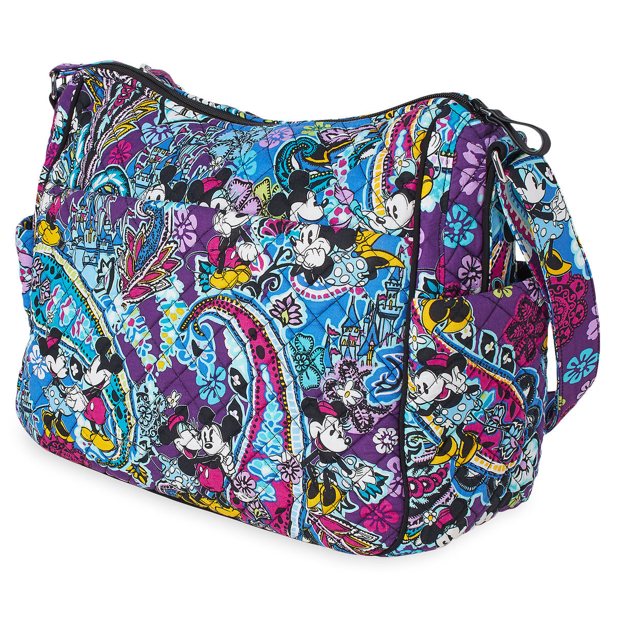 Vera Bradley Mickey and Minnie Paisley On-The-Go Crossbody