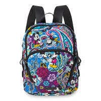 Image of Mickey and Minnie Mouse Paisley Hadley Backpack by Vera Bradley # 1