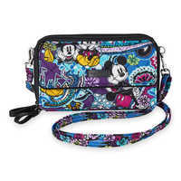 Image of Mickey and Minnie Mouse Paisley All in One Crossbody and Wristlet by Vera Bradley # 1