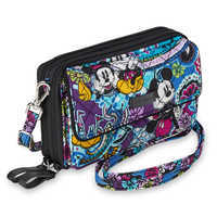 Image of Mickey and Minnie Mouse Paisley All in One Crossbody and Wristlet by Vera Bradley # 4