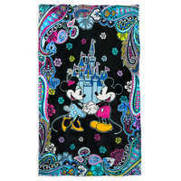 Image of Mickey and Minnie Mouse Paisley Throw Blanket by Vera Bradley # 1