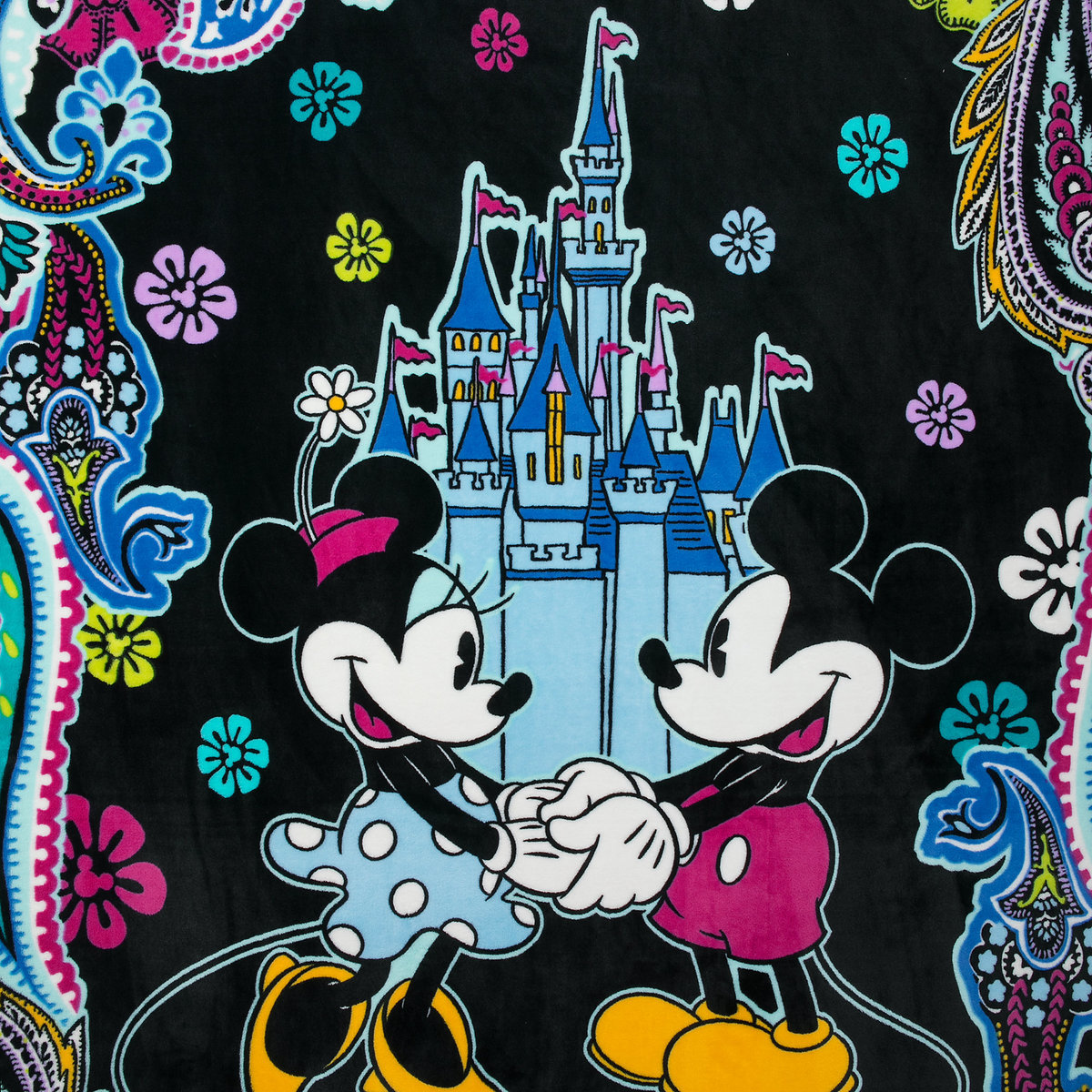 Vera Bradley Mickey and Minnie Paisley Throw Blanket
