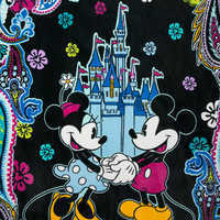 Image of Mickey and Minnie Mouse Paisley Throw Blanket by Vera Bradley # 2