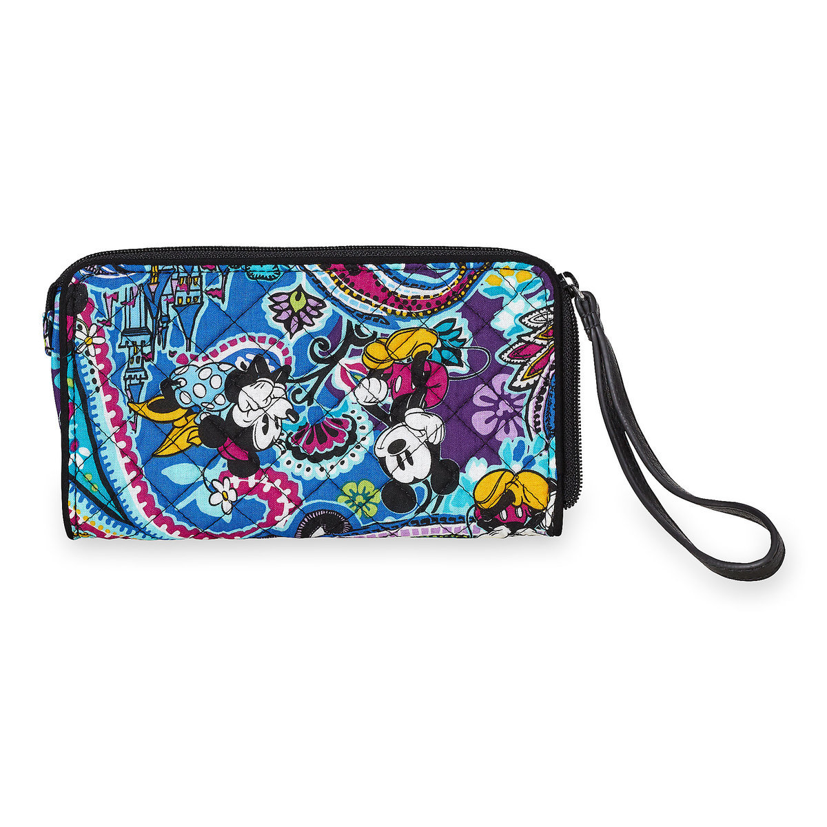 Vera Bradley Mickey and Minnie Paisley Wristlet