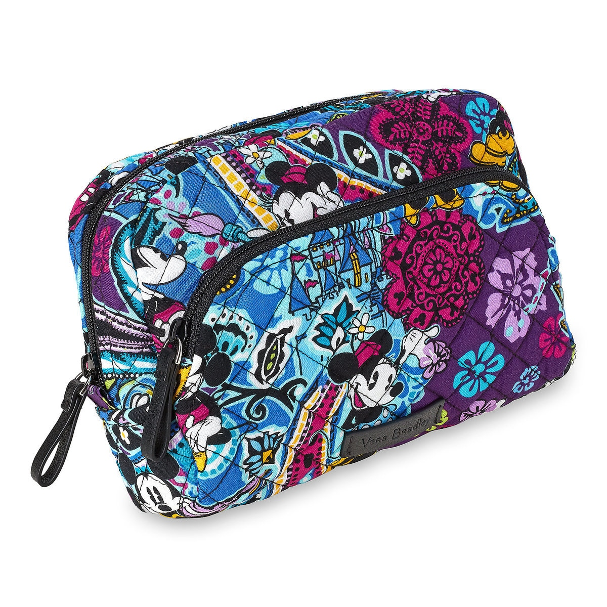 Vera Bradley Mickey and Minnie Paisley Medium Cosmetic Bag