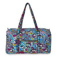 Image of Mickey and Minnie Mouse Paisley Duffel Bag by Vera Bradley # 1