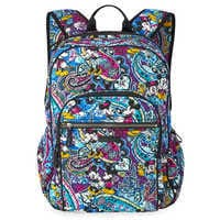 Image of Mickey and Minnie Mouse Paisley Campus Backpack by Vera Bradley # 1