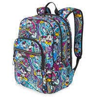 Image of Mickey and Minnie Mouse Paisley Campus Backpack by Vera Bradley # 2