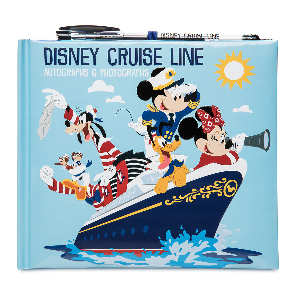 Mickey Mouse and Friends Disney Cruise Line Autograph and Photo Album