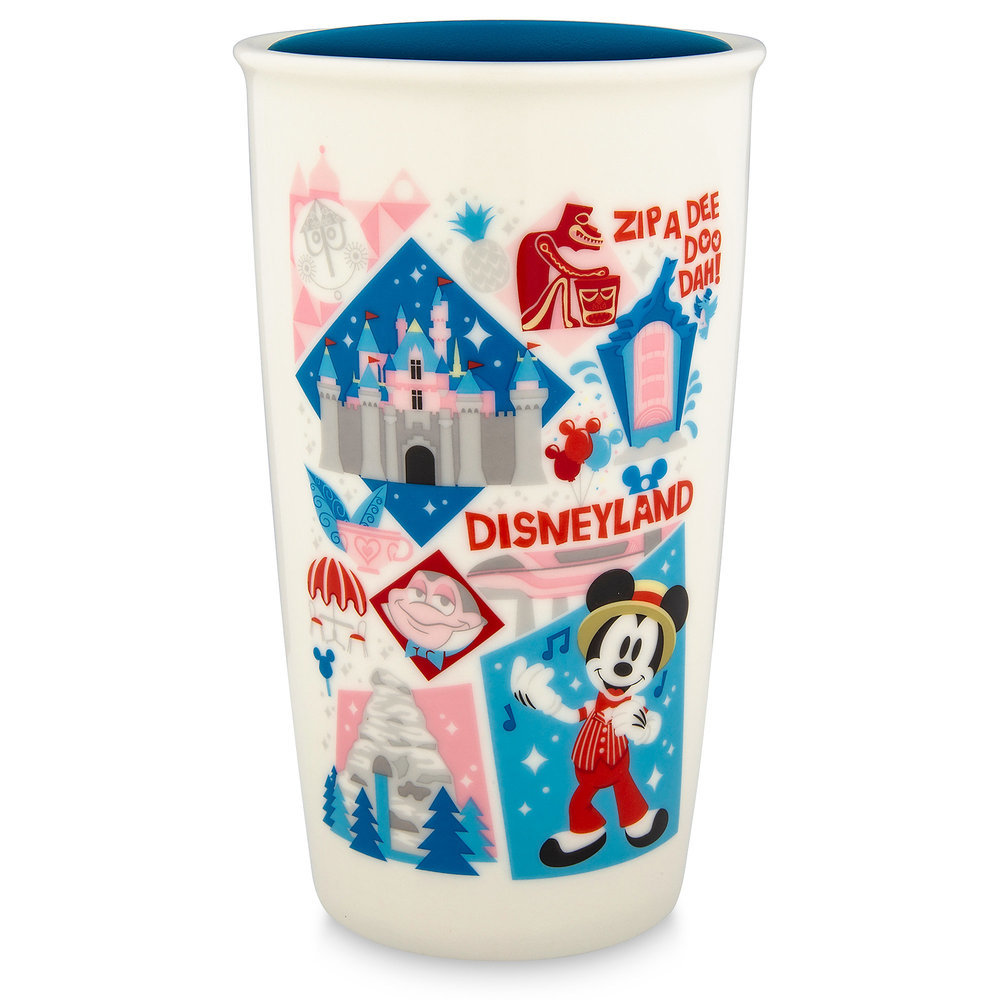 Disneyland Starbucks Ceramic Travel Tumbler