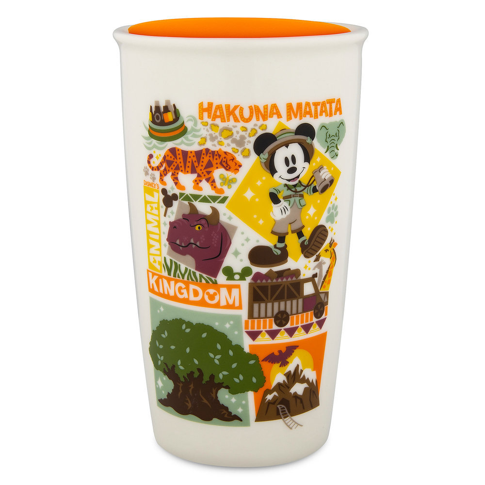 Disney's Animal Kingdom Starbucks Ceramic Travel Tumbler