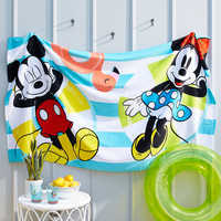 Image of Mickey and Minnie Mouse Summer Fun Beach Towel # 2