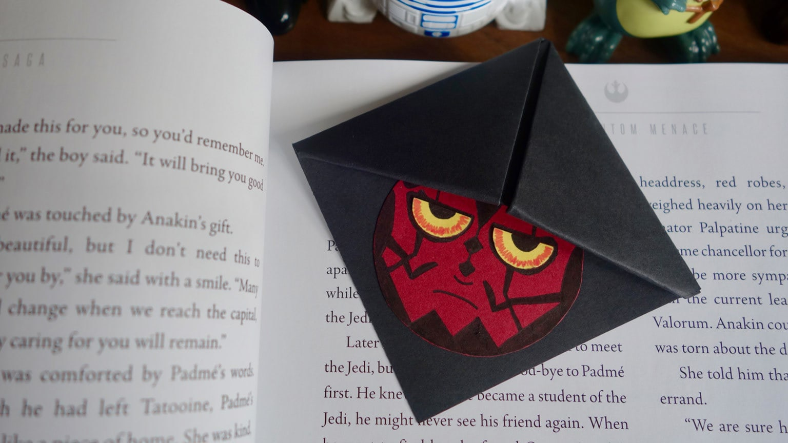 This DIY Darth Maul Bookmark is a Sensational Sith Craft